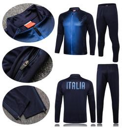 italy suits 2019 - 18 19 New Italy jacket Long zipper tracksuit Top Survetement insigne training suit bonucci r baggio immobile totti unifo