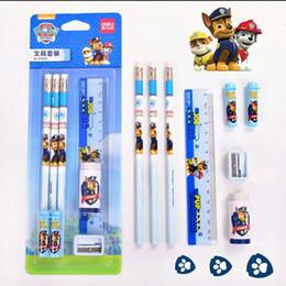 $enCountryForm.capitalKeyWord NZ - Deli Student Stationary Set HB pencil sharpener eraser pencil extender Ruler kids School Stationery Supplies