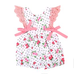 $enCountryForm.capitalKeyWord UK - Lovely Newborn Baby Girls Strawberry Print Lace Romper Jumpsuit Outfits Summer Clothes Sunsuit