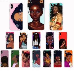 $enCountryForm.capitalKeyWord Australia - Black Girl Magic Melanin Poppin Coque Shell Phone Case For Iphone 8 7 6 6s Plus X Xs Xr Xsmax 5 5s Se 5c