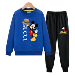 hoodie latest NZ - Hot sale Spring new boy girl Two-piece Suit Latest high quality casual Hoodie two piece set 031606