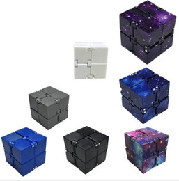 Kids Blocks Wholesale Australia - Infinity Cube Mini Second-order cube Toy Finger EDC Anxiety Stress Relief Magic Cube Blocks Adult Children Kids Funny Toys Best Gift 8*4*2cm