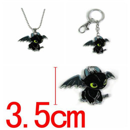 Necklaces Pendants Australia - How to Train Your Dragon Toys Figures Keychain New Fashion Cute Toothless Necklace Pendant Keyring Kids Jewelry CCA11351 30pcs