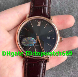 luxury brown leather watch Australia - MKS New Luxury 356511 Watch Asian 2892 automatic movement 18K Rosegold Case Grey Dial Brown Leather Strap Solid Case Back Mens Watch