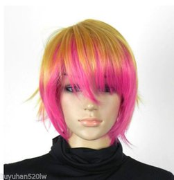 $enCountryForm.capitalKeyWord Australia - Wholesale price Hot Sell TSC^^^ Hot Sell New Fashion Sexy Short Blonde Pink Straight Women's Lady Hair Wig