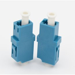 $enCountryForm.capitalKeyWord Australia - 50PCS lot LC-LC DX SM Fiber Adapter Connector Simplex LC UPC Flange Connector FTTH Fiber Optic Adapter