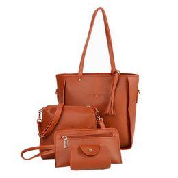 $enCountryForm.capitalKeyWord Australia - Ladies Handbags New Fashion Lychee Four-piece Suit Bags Fringed Crossbody Shoulder Bag For Women