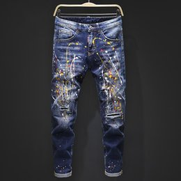 Wholesale fly cars for sale - Group buy Men s luxury designer jeans tight classic diesel car Square jeans rock Renaissance men s jeans rock revival biker diesel men