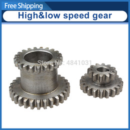 spur gears Australia - 2pcs High&low Metal Transmission speed gear CJ0618 Teeth T29xT21 T20xT12 metal gears Lathe Main shaft duplicate double gear