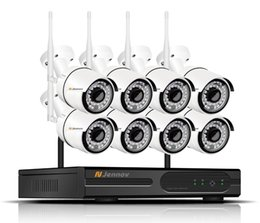 Cctv Wifi Ip Australia - 8CH 1080P IP Camera 2MP Surveillance Wifi Outdoor Wireless CCTV NVR Kit Security Camera System Outdoor IR Red Light Night Vision
