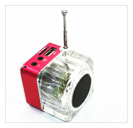 Discount control disk - Disk Speaker Mini Digital Portable Music MP3 4 Player Micro SD TF USB High Quality Disk Speaker FM Radio Red Blue Green