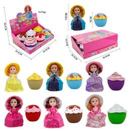 Cupcakes Girls Australia - 15 cm Doll Mini Cupcake Princess Magic Toys Popular For Girls Birthday With Display Box 12 Pcs   Set