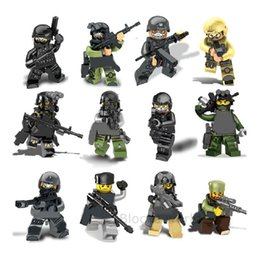 Military Figures Australia - 12pcs set Military Special Guard Soldiers Army Building Blocks Brick Models Figures Toys Children Gift Toys