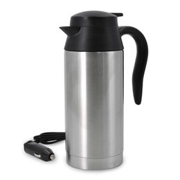 $enCountryForm.capitalKeyWord Australia - 750ML Portable Car Heating Cup with 12v Cigarette Charger Stainless Steel Kettle Travel Coffee Heated Cup Mug