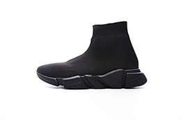 $enCountryForm.capitalKeyWord Australia - 2019 New Designer Sneaker Speed Runner Fashion Shoes Sock Triple Black Boot Red Flat Trainer Men Women Casual Shoes Sport With Dust Bag