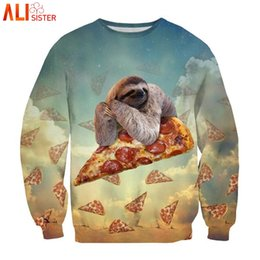 Galaxy clothinG men online shopping - Alisister Animal Sweatshirt Pizza Sloth Hoodies Swearshirts Men Women s Unicorn Cat Hoodie Winter Autumn d Galaxy Clothes