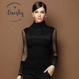 Plus size blouse short sleeve online shopping - Blouse Sexy M Xl Lace Tops Openwork Blusas New Slim Plus Size Lace Long Sleeve Casual Shirt Beaded Women Clothing