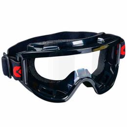 Venta al por mayor de Gafas de seguridad a prueba de viento táctico Gafas de protección contra golpes y polvo industrial Trabajo de protección de los vidrios al aire libre del montar a caballo Gafas Negro