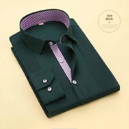 $enCountryForm.capitalKeyWord Australia - Men Tuxedo Shirts Long Sleeve Bow Tie Deign Cloth,Turn-down Collar Single Breasted Candy Solid Color High-grade Dress Shirts