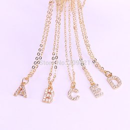 Necklaces Pendants Australia - 10pcs High Quality Gold Silver Black Color Micro Pave Cz 26 Alphabets Letter Pendant Necklace Charm For Women Gifts J190526