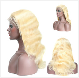 Glueless Wig Braids For Australia - Blonde Human Hair Lace Front Wigs Body Wave Peruvian Braided Wig For Black Women Pre Plucked 613 Wavy Honey Blonde Glueless Full Lace Wig