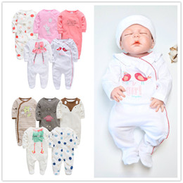 Jumpsuit Baby Born Australia - 2019 Kavkas Baby Girl Roupa De Bebe Newborn Full Sleeve 3m 6m 9m 12m Infant Girl Rompers New Born Clothes Bebek Giyim Jumpsuits Y19061303
