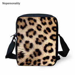 School Book Bags NZ - Nopersonality Kids Mini School Bags 3D Leopard Messenger Bags for Teenager Girls Shoulder Baby Kindergarten Small Book Bag