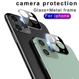 smart screen protector iphone NZ - Rear Camera Screen Protector Titanium Alloy Tempered Glass Film Metal Frame Back Lens Protection for iPhone 11 Pro Max With Retail Package