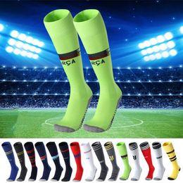 1471cfe56 18 19 European Football Club Soccer Socks Stockings Antiskid Sports Socks  Male Adult Comfortable Socks Logo