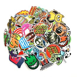 laptop cooling NZ - 100pcs Cool skull Waterproof Fun scrapbooking Sticker laptop fridge skateboard for Suitcase Wall car travel stickers pack