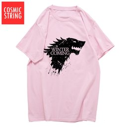 d42893fa6 2019 men s designer clothing tshirt cotton summer loose game of thrones men  T shirt casual winter is coming tshirt t-shirt tee shirts