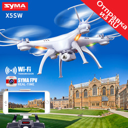 Flashing Helicopter Toy NZ - SYMA X5SW Drone with WiFi Camera Real-time Transmit FPV Quadcopter Quadrocopter (X5C Upgrade) HD Camera Dron 4CH RC Helicopter