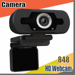 webcam Canada - 848 USB HD 1080P Webcam for Computer Laptop 2MP High-end Video Call Webcams Camera With Noise Reduction Microphone with retail box