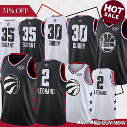 BasketBall jersey star online shopping - 2 Kawhi jersey Leonard Stephen Curry Durant Basketball Jerseys all star balck Embroidery Logos Basketball Stitched Jersey