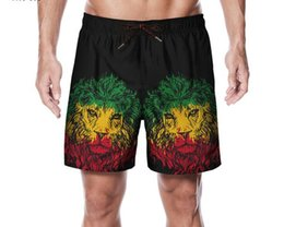 $enCountryForm.capitalKeyWord Australia - Mens Clothes 2019 3D Lion Wolf Shorts Print Short Pants Travel Casual Beach Board Shorts Surfing Brand Fashion M L XL XXL
