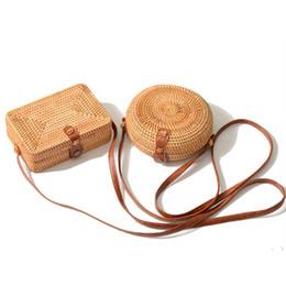 $enCountryForm.capitalKeyWord NZ - good quality Summer Women Handmade Round Bamboo Handbags Rattan Bags Circle Box Bali Bohemian Beach Totes Handbags Knitting Straw Bag