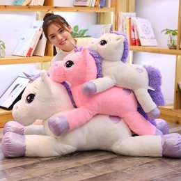 $enCountryForm.capitalKeyWord Australia - 2019 New Arrival Large Unicorn Plush Toys Cute Pink White Horse Soft Doll Stuffed Animal Big Toys For Children Birthday Gift J190717