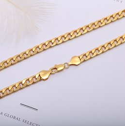Various Gold Alloys NZ - 100 pcs,Men's Various models Twisted twist Necklace 6 mm wide 18K gold-plated Necklace Alloy Material Don't fade Hip hop Necklace,16~32 inch