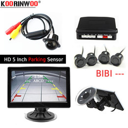 rear parking sensor kits Australia - Koorinwoo Parking Kit HD 5 Inch Car Backup Monitor Display Image CCD Car Rear View Camera Parking Sensor 4 Radar Parktronic