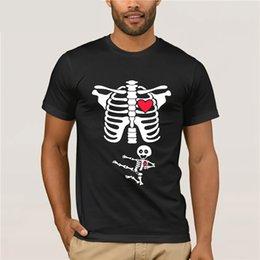 $enCountryForm.capitalKeyWord NZ - Hot Sale Brand New Fashion Summer Men Brand Clothing Summer Tops Hip Hop Maternity Baby Karate Skeleton Halloween T Shirt