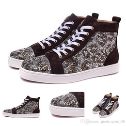 $enCountryForm.capitalKeyWord Australia - Free shipping Black suede with rhinestone Red Bottom Sneakers for Men women Shoes Designer Luxury leisure trainer footwear cheap Genuine Lea