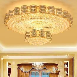 $enCountryForm.capitalKeyWord Australia - LED ceiling chandeliers European American luxury oval fancy high end K9 crystal chandelier hotel lobby villa led chandeliers lights