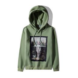 Oil paintings girls online shopping - Oil Painting Angel Girl Printed Unisex Hoodies Street Style Men Hood Brand Designer Pullover Green Black Women Fleece Hoodie Sweatshirt