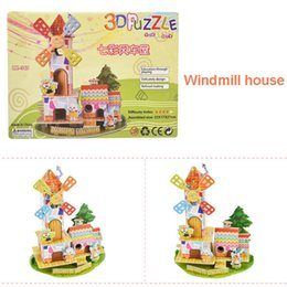house toy puzzle diy Canada - Girls Toys 3D DIY Bedroom Paper Doll House Puzzle Children Miniature Pink Sweet Jigsaw Handmade Dolls House Toy For Kids Gift