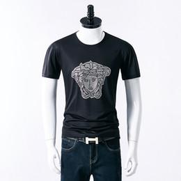 Korean Style Men T Shirts Australia - Summer New Pattern Short Sleeve T designer luxury T-shirt Men Colour Black Bottoming Blouses Male Style Korean Edition Slim