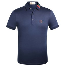 Comfort Cotton T Shirts UK - 2019 summer fashion new short-sleeved high-end T-shirt men's casual comfort personality sports Polo shirt