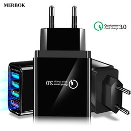 $enCountryForm.capitalKeyWord NZ - QC3.0 Quick Charger 4 USB EU US Wall Plug Travel Adapter For iPhone XR XS X Max 8 7 6 Magnetic Fast Charging Data Cable