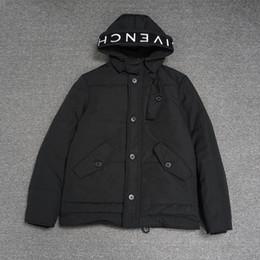 Ingrosso 19ss moda di lusso giacca giacca invernale uomo lettera ricamo nero cappotto di cotone tag marchio di abbigliamento mens cappotti sezione lunga di alta qualità