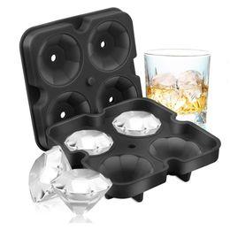 $enCountryForm.capitalKeyWord UK - 2pcs set Diamond Ice Cube Tray Reusable Ice Cubes Maker Silicone Ice Cream Molds Form Chocolate Mold Whiskey Party Bar Tools
