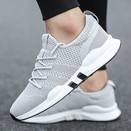$enCountryForm.capitalKeyWord Australia - Summer Brand Fashion Men Casual Shoes Light Breathable Mesh Shoes Men Sneakers Lace Up Gray White Black All Mens 2019 New